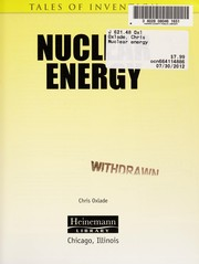 Cover of: Nuclear energy | Chris Oxlade