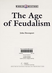 Cover of: The age of feudalism | Davenport, John