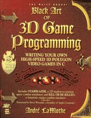 Cover of: Black art of 3D game programming