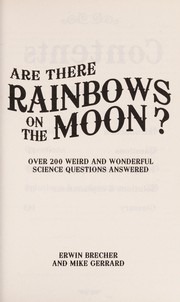 Cover of: Are there rainbows on the moon?
