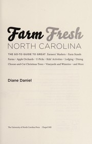 Cover of: Farm fresh North Carolina | Diane Daniel