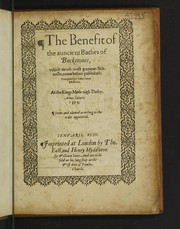 Cover of: The benefit of the auncient bathes of Buckstones