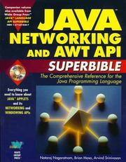 Cover of: Java networking and AWT API superbible