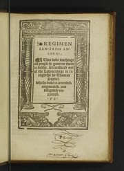 Cover of: Regimen sanitatis Salerni | Thomas Paynell