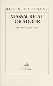 Cover of: Massacre At Oradour