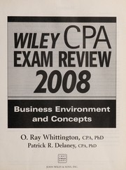 Cover of: Wiley CPA exam review 2008. | Ray Whittington