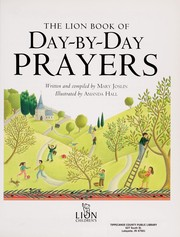 Cover of: The Lion book of day-by-day prayers
