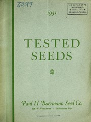 Cover of: 1931 tested seeds