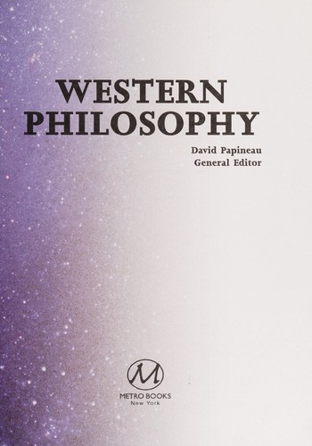 Western philosophy by David Papineau