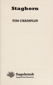 Cover of: Staghorn | Tim Champlin