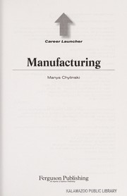 Cover of: Manufacturing