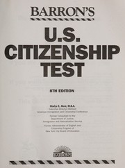 Cover of: U.S. citizenship test