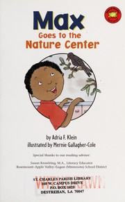 Cover of: Max goes to the nature center