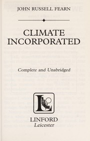 Cover of: Climate incorporated