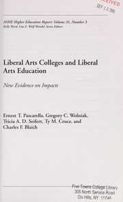 Cover of: Liberal arts colleges and liberal arts education |