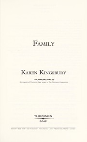 Cover of: Family (Firstborn Series #4) | Karen Kingsbury