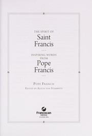 Cover of: The spirit of Saint Francis | Francis Pope