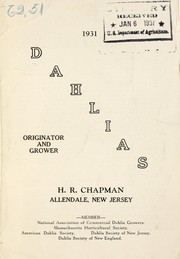 Cover of: Dahlias, 1931 | H.R. Chapman (Firm)