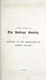 Cover of: The Historye of the Bermudaes or Summer Islands |