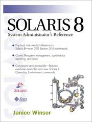 Cover of: Solaris 8 system administrators's reference