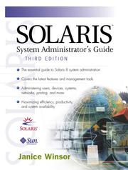 Cover of: Solaris system administrator's guide