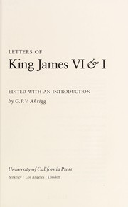 Cover of: Letters of King James VI & I | King of England James I