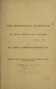 Cover of: The Smithsonian Institution