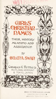 Cover of: Girls' Christian names