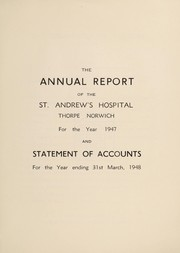 Cover of: The annual report of the St. Andrew