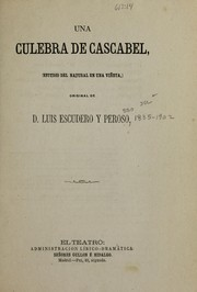 Cover of: Una culebra de cascabel
