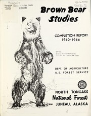 Cover of: Brown bear studies | United States. Forest Service