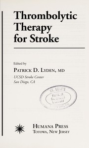 Cover of: Thrombolytic therapy for stroke |