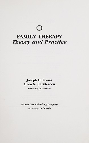Family therapy by Joseph H. Brown