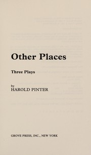 Cover of: Other places: three plays