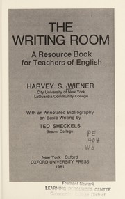 Cover of: The writing room