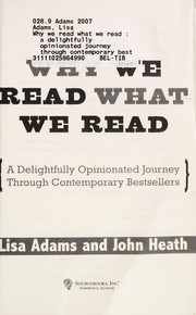 Cover of: Why we read what we read