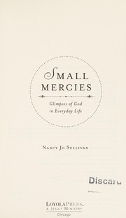 Cover of: Small mercies | Nancy Jo Sullivan