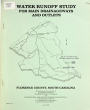 Cover of: Water runoff study for main drainageways and outlets | United States. Soil Conservation Service