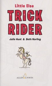 Cover of: Trick rider | Julie Hunt
