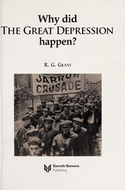 Cover of: Why did the Great Depression happen? | R. G. Grant