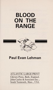 Cover of: Blood on the range