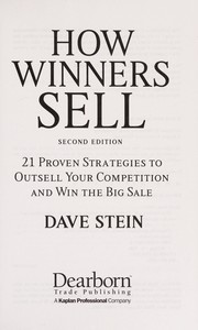 Cover of: How winners sell | Dave Stein