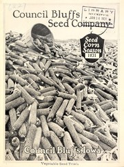 Cover of: Seed corn season, 1931