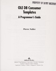 Cover of: OLE DB Consumer Templates