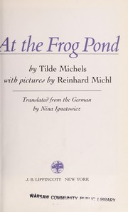 Cover of: At the frog pond | Tilde Michels