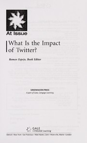 Cover of: What is the impact of Twitter? | Roman Espejo