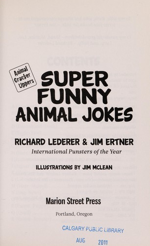 Super funny animal jokes by Lederer, Richard