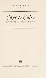 Cover of: Cape to Cairo | Mark Strage