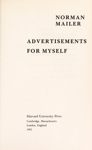 Cover of: Advertisements for myself | Norman Mailer