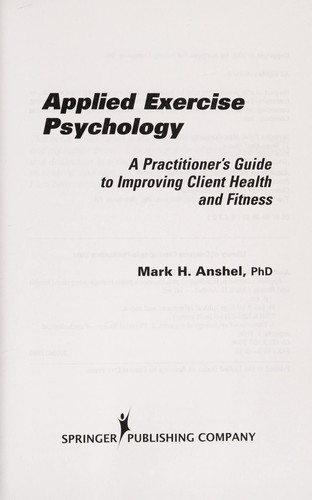 Applied exercise psychology by Mark H. Anshel